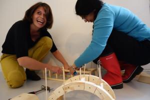 Bygging av bro med tre-byggesett