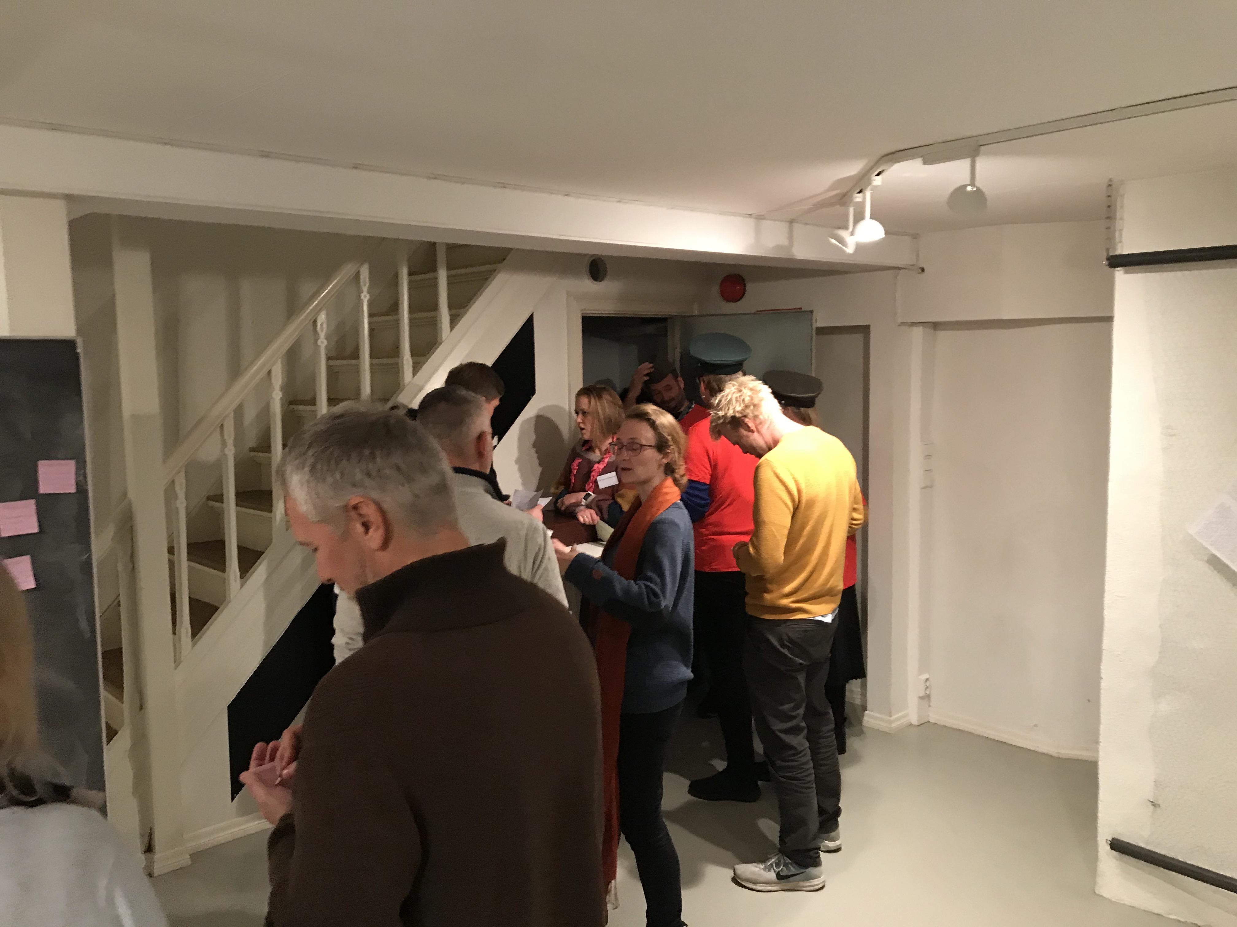 Lærere på kurs i rollespill på Raftosenteret i Bergen